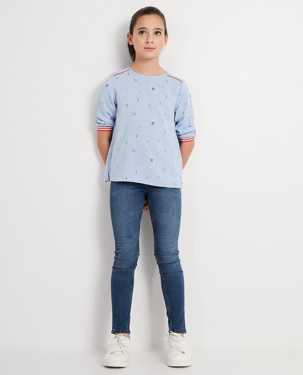 Bluse aus Viskose mit Print - I AM - I AM